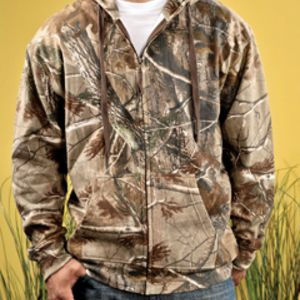 Adult Officially Licensed REALTREE® Camouflage Hooded Zip Front Sweatshirt Thumbnail